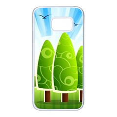 Landscape Nature Background Samsung Galaxy S7 White Seamless Case