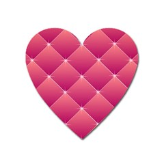 Pink Background Geometric Design Heart Magnet by Nexatart