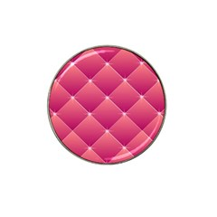 Pink Background Geometric Design Hat Clip Ball Marker (10 Pack)