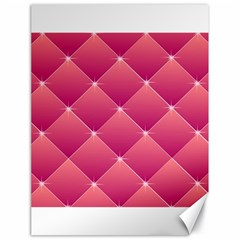 Pink Background Geometric Design Canvas 18  X 24