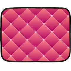 Pink Background Geometric Design Double Sided Fleece Blanket (mini)