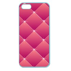 Pink Background Geometric Design Apple Seamless Iphone 5 Case (color)