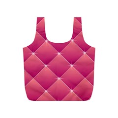 Pink Background Geometric Design Full Print Recycle Bags (s)