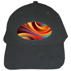 Abstract Colorful Background Wavy Black Cap