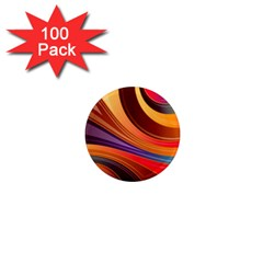Abstract Colorful Background Wavy 1  Mini Magnets (100 Pack)  by Nexatart
