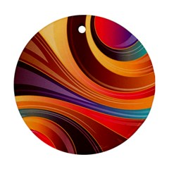 Abstract Colorful Background Wavy Round Ornament (two Sides)