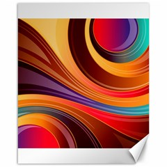 Abstract Colorful Background Wavy Canvas 16  X 20   by Nexatart