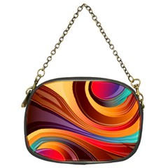 Abstract Colorful Background Wavy Chain Purses (two Sides)