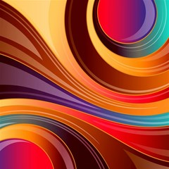 Abstract Colorful Background Wavy Magic Photo Cubes by Nexatart