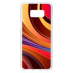 Abstract Colorful Background Wavy Samsung Galaxy S8 Plus White Seamless Case