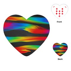 Colorful Background Playing Cards (heart)  by Nexatart