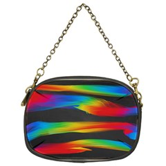 Colorful Background Chain Purses (one Side)