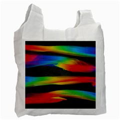 Colorful Background Recycle Bag (one Side)