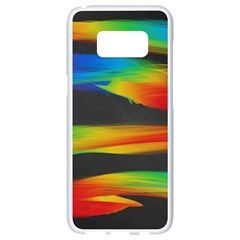 Colorful Background Samsung Galaxy S8 White Seamless Case by Nexatart