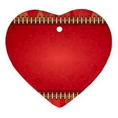 Background Red Abstract Heart Ornament (two Sides)