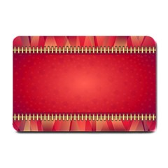 Background Red Abstract Small Doormat