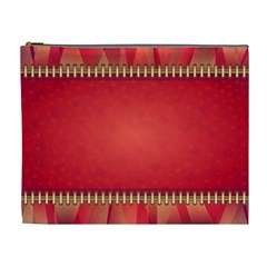 Background Red Abstract Cosmetic Bag (xl)