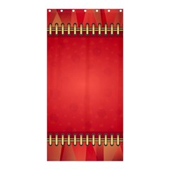 Background Red Abstract Shower Curtain 36  X 72  (stall)  by Nexatart