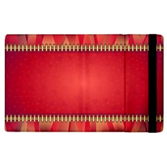 Background Red Abstract Apple Ipad 3/4 Flip Case by Nexatart