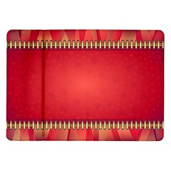 Background Red Abstract Samsung Galaxy Tab 10 1  P7500 Flip Case