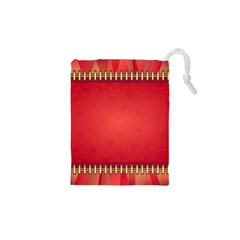 Background Red Abstract Drawstring Pouches (xs)  by Nexatart