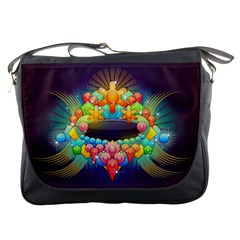 Badge Abstract Abstract Design Messenger Bags