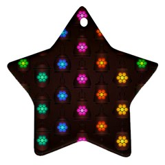 Lanterns Background Lamps Light Ornament (star)