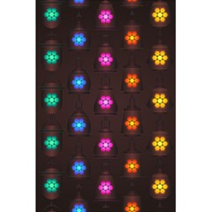 Lanterns Background Lamps Light 5 5  X 8 5  Notebooks by Nexatart