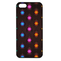 Lanterns Background Lamps Light Apple Iphone 5 Seamless Case (black)