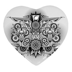 Forest Patrol Tribal Abstract Ornament (heart)