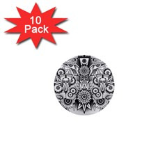 Forest Patrol Tribal Abstract 1  Mini Buttons (10 Pack)