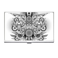 Forest Patrol Tribal Abstract Business Card Holders