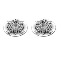 Forest Patrol Tribal Abstract Cufflinks (oval)