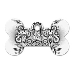 Forest Patrol Tribal Abstract Dog Tag Bone (two Sides) by Nexatart