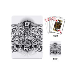 Forest Patrol Tribal Abstract Playing Cards (mini)