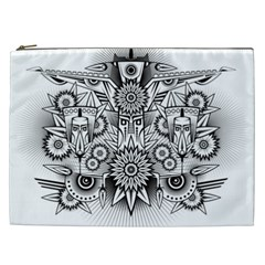 Forest Patrol Tribal Abstract Cosmetic Bag (xxl)  by Nexatart