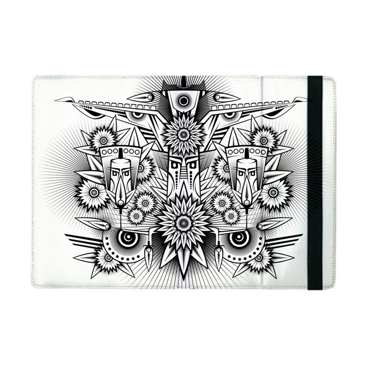 Forest Patrol Tribal Abstract Apple iPad Mini Flip Case