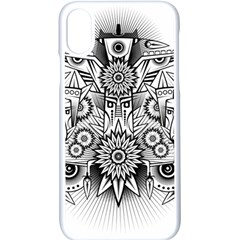 Forest Patrol Tribal Abstract Apple Iphone X Seamless Case (white) by Nexatart