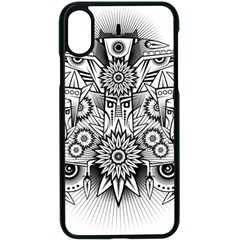 Forest Patrol Tribal Abstract Apple Iphone X Seamless Case (black) by Nexatart