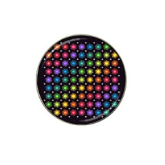 Background Colorful Geometric Hat Clip Ball Marker