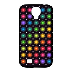 Background Colorful Geometric Samsung Galaxy S4 Classic Hardshell Case (pc+silicone)