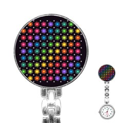 Background Colorful Geometric Stainless Steel Nurses Watch by Nexatart