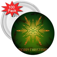 Christmas Snowflake Card E Card 3  Buttons (100 Pack)