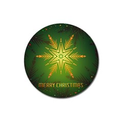 Christmas Snowflake Card E Card Magnet 3  (round)