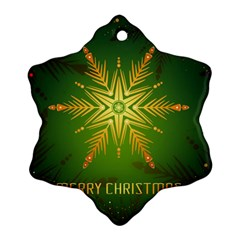 Christmas Snowflake Card E Card Snowflake Ornament (two Sides)