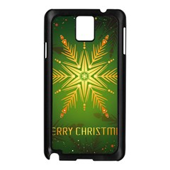 Christmas Snowflake Card E Card Samsung Galaxy Note 3 N9005 Case (black)