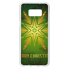 Christmas Snowflake Card E Card Samsung Galaxy S8 Plus White Seamless Case
