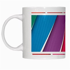 Abstract Background Colorful White Mugs by Nexatart