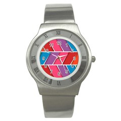 Abstract Background Colorful Stainless Steel Watch by Nexatart