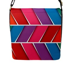 Abstract Background Colorful Flap Messenger Bag (l)